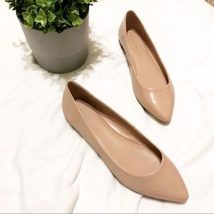 BCBGeneration Nude Shell Pointed Flats